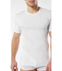 t-shirt a manica corta in cotone e cashmere