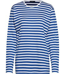 pitkähiha 2017 shirt t-shirts & tops long-sleeved blauw marimekko