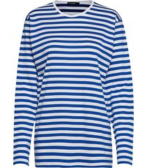 pitkähiha 2017 shirt t-shirts & tops long-sleeved blauw marimekko