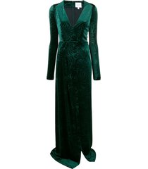 galvan winter palm dress - green