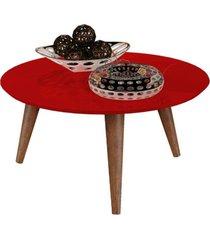 mesa centro retrã´ cissa - vermelho - compre aqui - incolor - dafiti