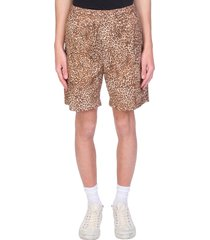 mauro grifoni shorts in animalier wool