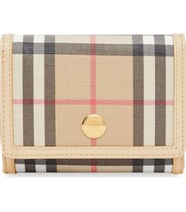 burberry small vintage check folding wallet - neutrals