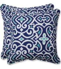 "new damask marine 18.5"" throw pillow, set of 2"