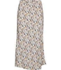 print midi skirt knälång kjol beige gap