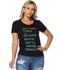t-shirt daniela cristina gola u profundo 04 602dc10298 preto pp - feminino