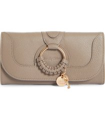 women's see by chloe hana large leather wallet -