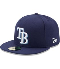new era kids' tampa bay rays authentic collection 59fifty cap