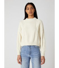 trui wrangler pull femme cable knit