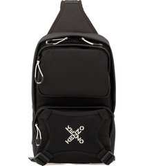 kenzo one shoulder loged backpack