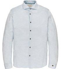 cast iron csi196616 5300 long sleeve shirt jersey slub pique chambray blue blauw
