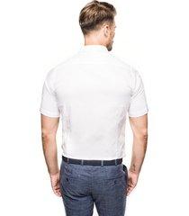 koszula bexley 2488/3 krótki rękaw slim fit biały