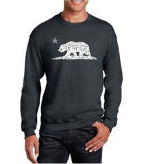 la pop art big & tall men's word art california dreamin crewneck sweatshirt