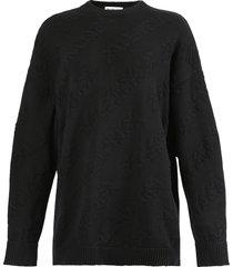 tonal logo pullover sweater black