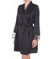 pyjama's / nachthemden selmark siena zwart negligee