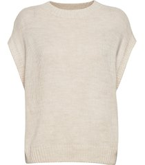 onlnadja s/l waistcoat knt knitwear knitted t-shirts/tops creme only