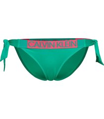 classic side tie bik bikinitrosa grön calvin klein