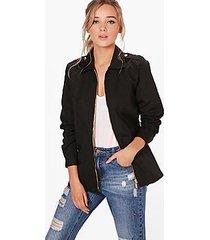 joanna zip front utility jacket