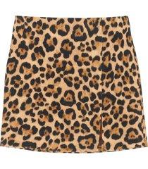 blumarine animalier mini skirt