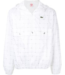 supreme lacoste reflective grid jacket - white