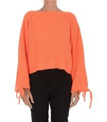 msgm fluo short oversize sweater