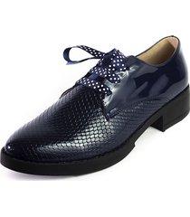 zapato azul oscuro ballerinas agata