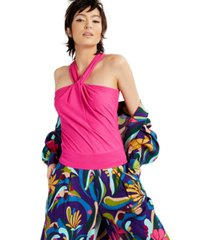 inc petite twisted halter top, created for macy's