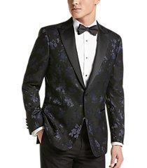 egara blue floral slim fit formal dinner jacket