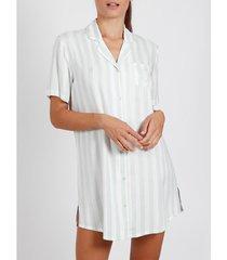 pyjama's / nachthemden admas nachthemd klassiek stripes groen