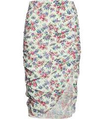 shelly flower skirt knälång kjol multi/mönstrad notes du nord
