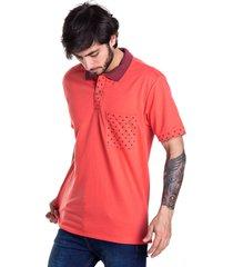 camiseta tipo polo audax coral