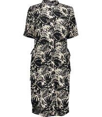 geisha 07085-20 010 jurk bi-color with straps s/s off-white/black combi