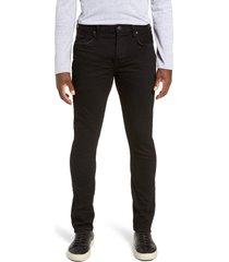 allsaints cigarette skinny fit jeans, size 36 in jet black at nordstrom