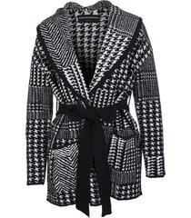 ermanno scervino jacquard jacket with patchwork motif