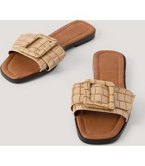 trendyol croco slippers - gold