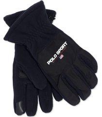 polo ralph lauren men's polo sport polartec fleece gloves with touch technology
