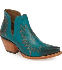 women's ariat dixon bootie, size 11 m - blue/green