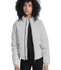 chaqueta ls blaze reflective puffer gris guess