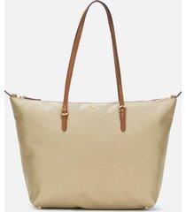 lauren ralph lauren women's keaton medium 31 tote bag - clay