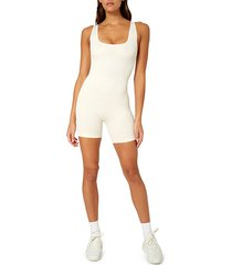 weworewhat women's ribbed bodysuit - off white - size l
