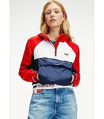 chaqueta branded popover multicolor tommy jeans