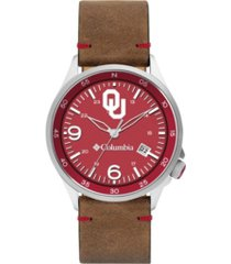 columbia men's canyon ridge oklahoma saddle leather watch 45mm