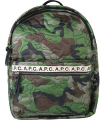 a.p.c. backpack with logo