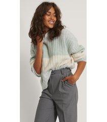 na-kd oversize stickad randig tröja - multicolor
