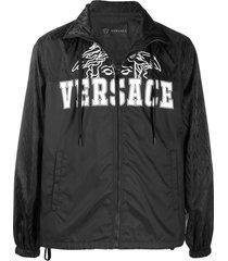 black zipped logo jacket