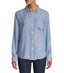 ingrid polka dot long-sleeve shirt