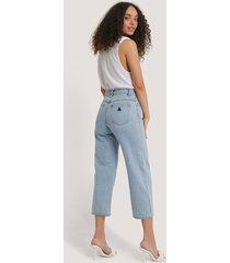 abrand a street aline crop jeans - blue