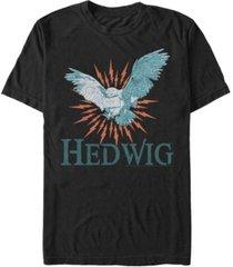 fifth sun harry potter men's hedwig messenger owl short sleeve t-shirt