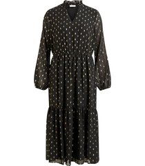 klänning vijolisa l/s midi dress