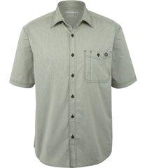 wolverine men's grayson short sleeve shirt gray chambray, size xxl